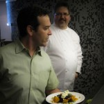 Chef David Machado and Darren Hamilton at Nel Centro
